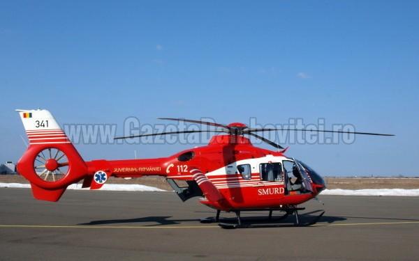 Nou născut prematur, adus cu elicopterul la Târgoviște, din cauza unor grave probleme de sănătate