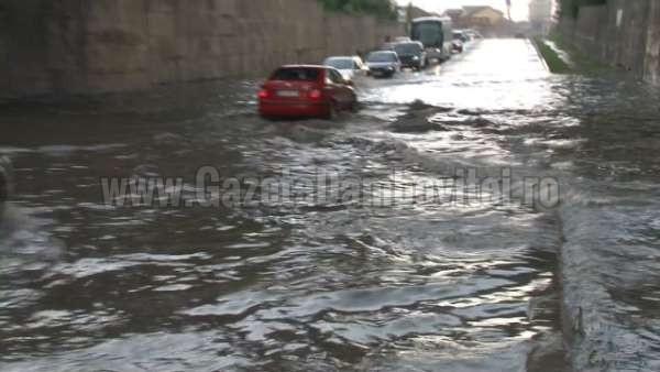 inundatii pasaj romlux targoviste (1)