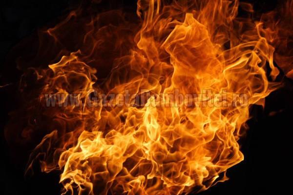 DÂMBOVIȚA: O femeie și-a incendiat fratele pentru o moștenire
