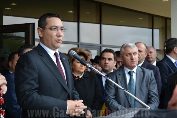TÂRGOVIȘTE: Premierul Victor Ponta, despre frica de DNA și ANI