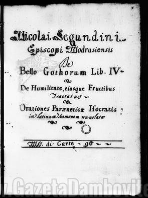 prima pagina a manuscrisului
