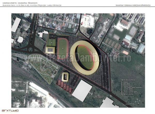 Începe proiectarea stadionului din zona mall-ului! Investiția esta a CJD prin CNI