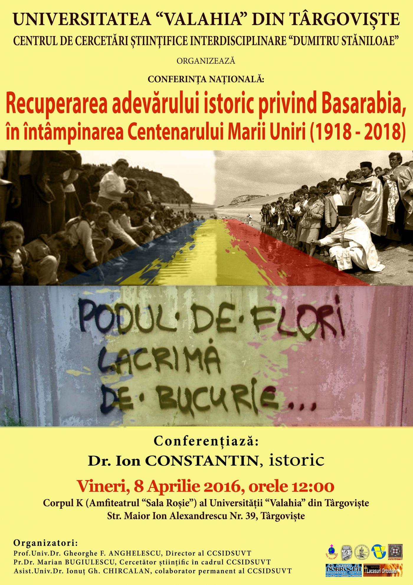 Afis Marile Puteri_Unirea_Basarabia - Ion Constantin_Targoviste