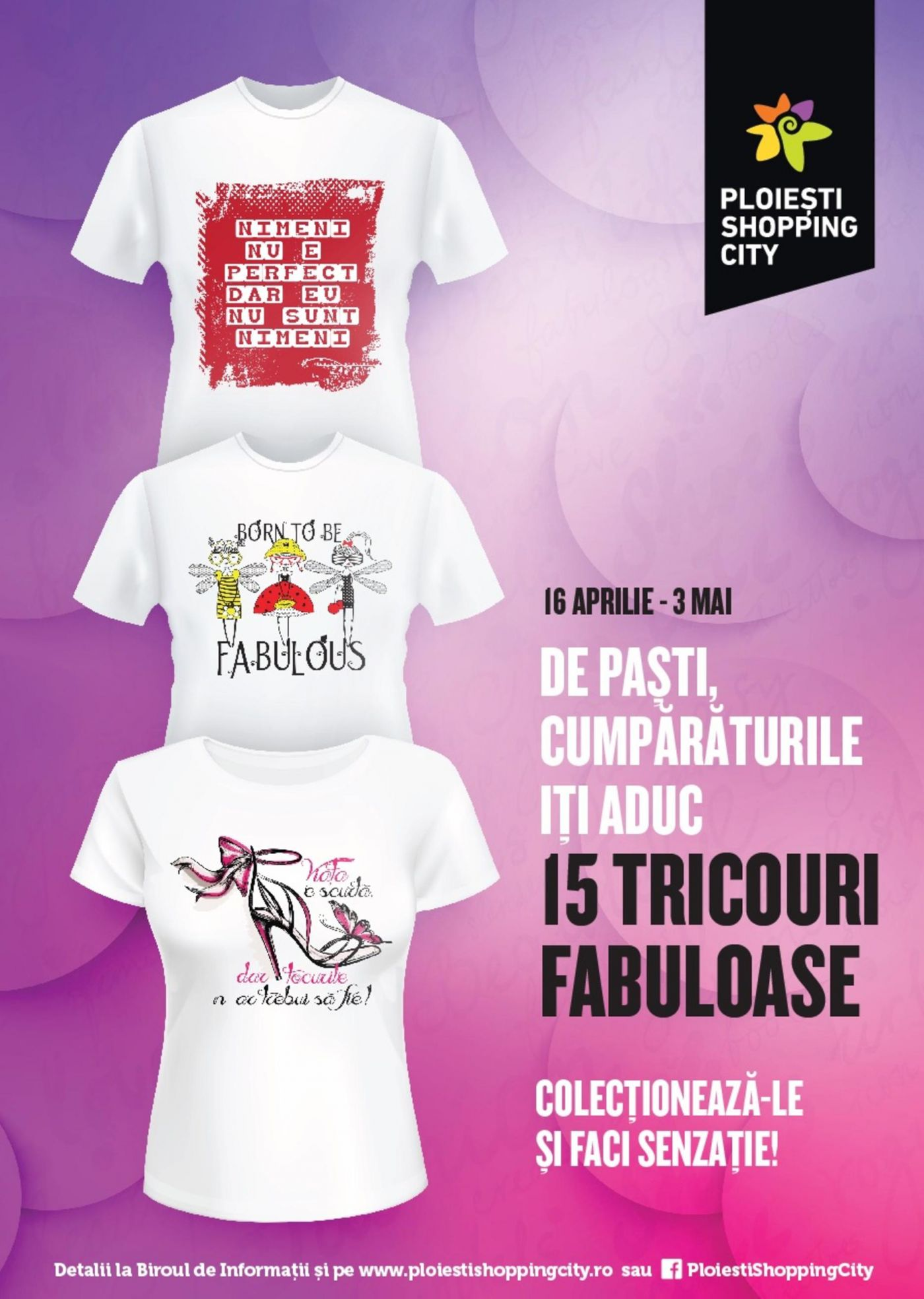Colectie limitata de tricouri cu mesaje la Ploiesti Shopping City