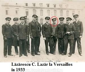 Lăzărescu C. Lazăr la Versailles în 1933