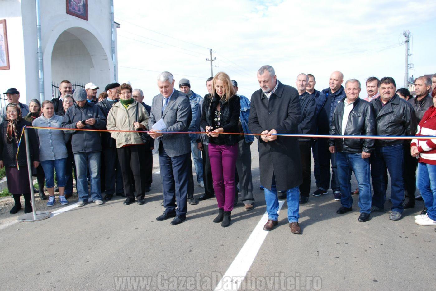 Inaugurare DJ 702G Ioneşti – Pătroaia Deal – limită cu Judeţul Argeş