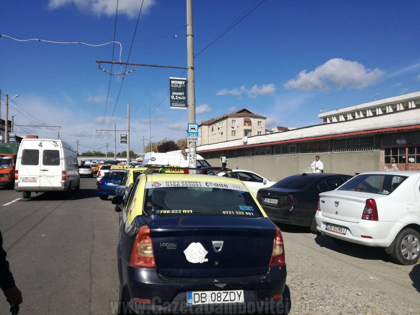TÂRGOVIȘTE: Protest Spontan Al Taximetriștilor, După Ce