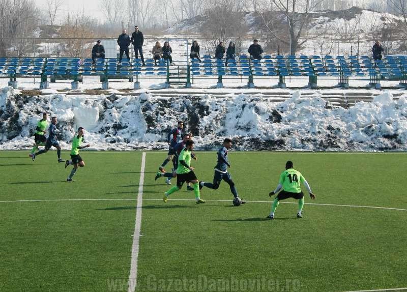 Fotbal.  Chindia, succes cu Metaloglobus București în penultimul amical al iernii
