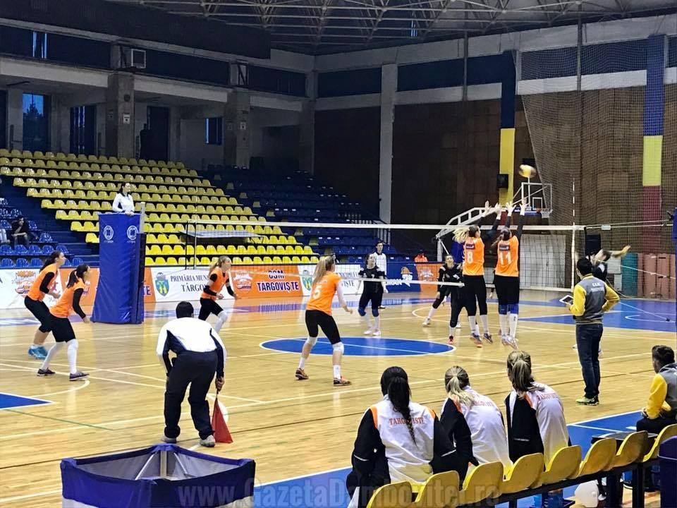 Volei.  CSM Târgoviște, victorie facilă cu CSU Galați în campionat