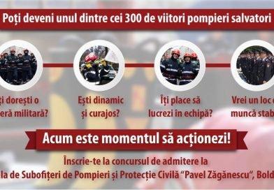 Sesiune de admitere, în ianuarie, și la Școala de Subofițeri de Pompieri și Protecție Civilă