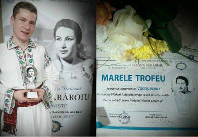 """Un fost concurent """"Românii au talent"""" a câștigat trofeul Festivalului """"Ileana Sărăroiu"""""""