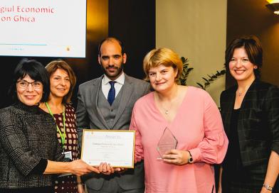 """Colegiul Economic """"Ion Ghica"""", premiat la competiția europeană Școala Antreprenorială a anului 2017"""
