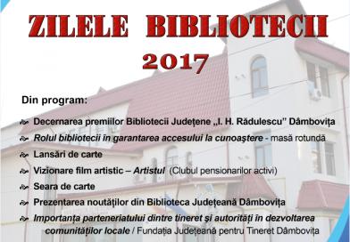 Vin Zilele Bibliotecii Ion Heliade Rădulescu. Vezi programul complet!