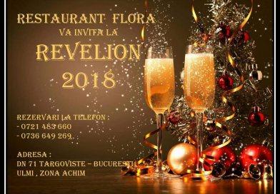 Revelion 2018 la Restaurant Flora Ulmi! 250 de lei meniul pentru adulți și 150 pentru copii