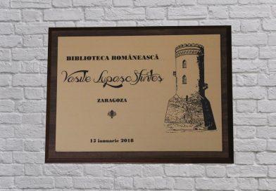 Românii din Zaragoza i-au dedicat scriitorului Vasile Lupașc o bibliotecă ce-i poartă numele