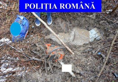 Un tânăr de 19 ani a furat bunuri din case de vacanță și le-a îngropat în grădină