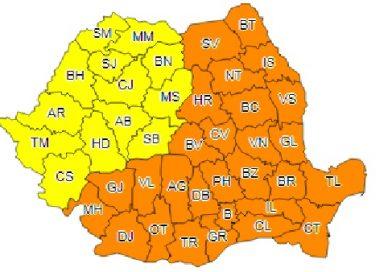 ANM a emis avertizare de Cod Portocaliu de ger și pentru județul Dâmbovița
