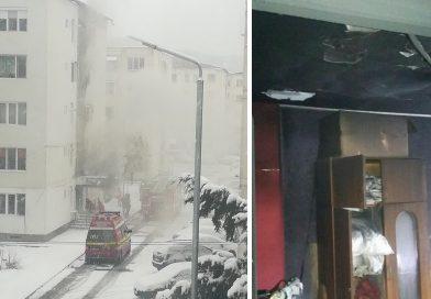 MORENI: Bloc evacuat în urma unui incendiu