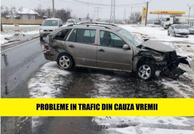 Zeci de masini au intampinat probleme in trafic din cauza vremii