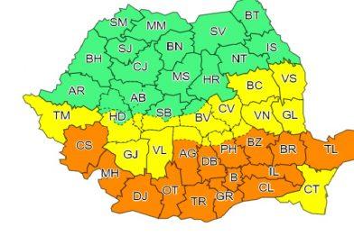 22 – 23 martie, averizare meteo de Cod Portocaliu, valabilă și pentru județul Dâmbovița