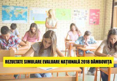 REZULTATE SIMULARE EVALUARE NAȚIONALĂ 2018 DÂMBOVIȚA