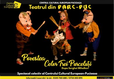 """""""Povestea celor trei purceluși"""" se va juca pe 20 martie, pentru copiii din Pucioasa"""