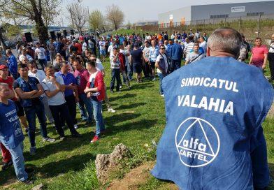 Protest la AsoCromsteel! După trei săptămâni de grevă generală, salariații sunt tot uniți!