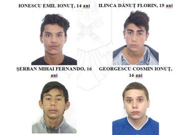 Patru minori sunt căutați de autorități