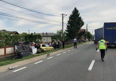 Trafic blocat pe DN 72 în urma unui accident rutier