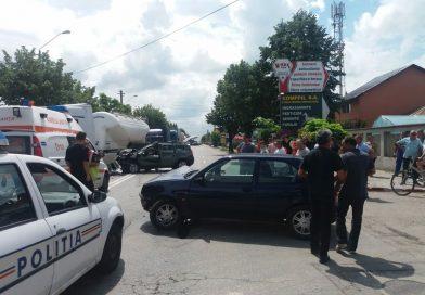 TÂRGOVIȘTE: Circulație blocată la intrarea în Târgoviște dinspre București