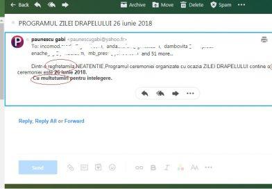 Purtătorul de cuvânt al Prefecturii Dâmbovița a trimis trei e-mailuri pentru același eveniment. Toate greșite!