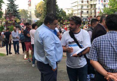 """GĂEȘTI: Voluntarii """"Fără penali"""" au stat de vorbă cu delegația PSD. Două persoane au semnat"""