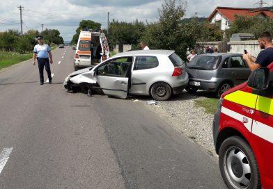 ATENȚIE: Accident pe DN 72 A, în localitatea Gheboieni