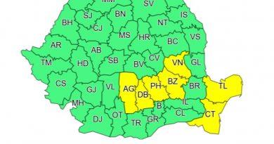 DÂMBOVIȚA: Atenționare meteo Cod Galben de ploi însemnate până la ora 22:00! Cum va fi vremea în weekend