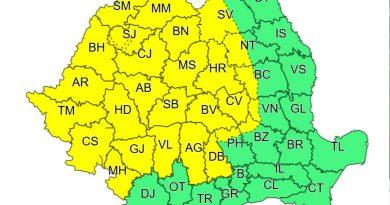 DÂMBOVIȚA: Luna august debutează cu un Cod Galben de ploi