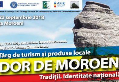 """Dâmbovițenii, așteptați la Târgul de turism și produse locale """"Dor de Moroeni""""!"""