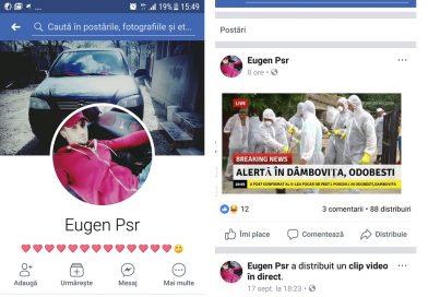 DÂMBOVIȚA: Un tânăr se amuză răspândind știri false despre pestă. A pus mai multe localități pe jar