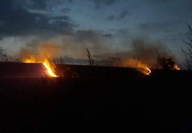 Incendiu pe barajul Perșinari