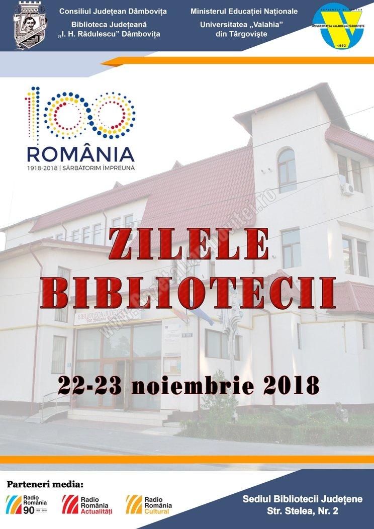Între 22 și 23 noiembrie se desfășoară Zilele Bibliotecii Ion Heliade Rădulescu