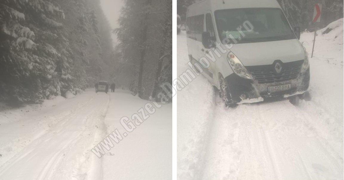 În munte, zăpada ne-a prins (cum altfel decât) nepregătiți!  DJ 714, impracticabil / DJ 713, închis