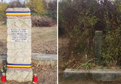 Un grup de voluntari a făcut treaba autorităților în cazul monumentului aviatorului Gheorghe Negel