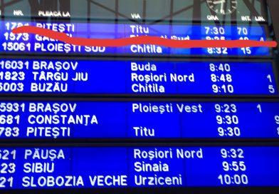 70 de minute întârziere la trenul IR 1781 București – Titu – Pitești.  Sute de călători au înghețat pe peron
