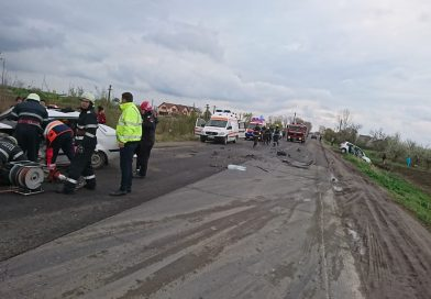 Accident grav pe DN 7. O victimă preluată de un elicopter SMURD