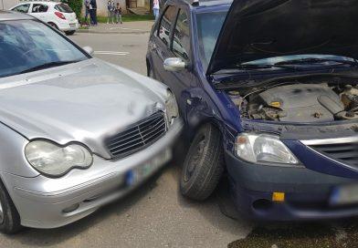 Coliziune între două autoturisme pe I. C. Brătianu