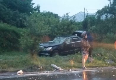 Se circulă pe un singur sens  pe DN 71, în urma unui accident rutier