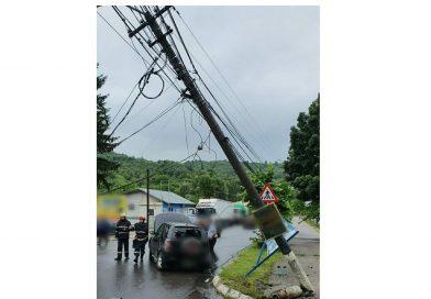 PUCIOASA: Restricții de circulație în urma unui accident