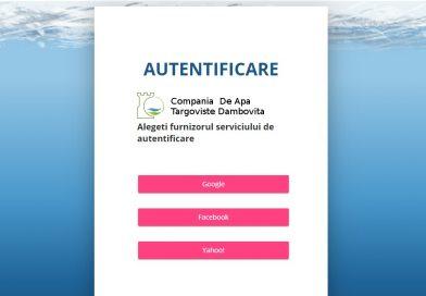 Portal online la dispoziția abonaților Companiei de Apă Târgoviște-Dâmbovița