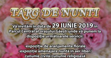 Târg de nunți, sâmbătă, în Parcul Central al orașului Găești