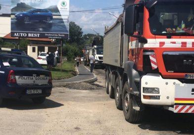 TÂRGOVIȘTE: Restricții de circulație pentru lucrări de asfaltare