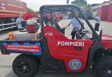 ISU Dâmbovița, dotat cu autospecială de teren! Pompierii și-au prezentat bilanțul